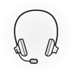 Illustration: ein Headset mit Mikrofon