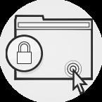 Illustration: ein Browserfenster mit einem Vorhängeschloss