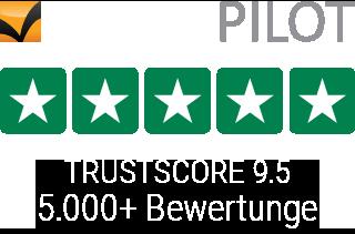 Trustpilot Bewertungen - 35000+ - Durchschnittsbewertung 9.5