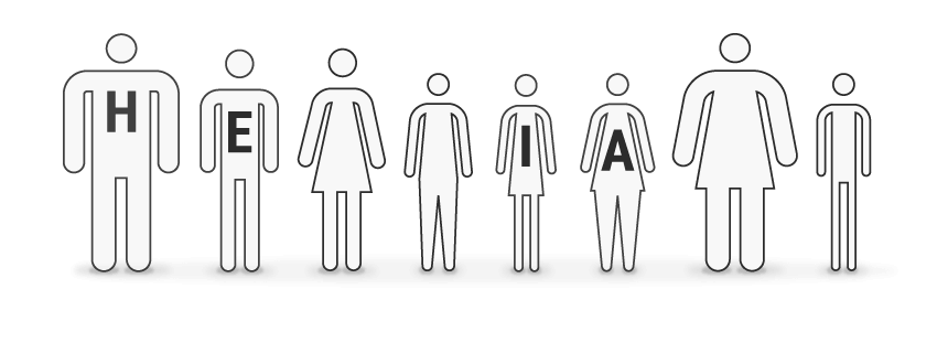HEIA Körpertypen - repräsentativ für 70 Prozent der Bevölkerung